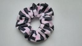 Резинка для волос (розовыйчерный)