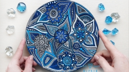 декоративная тарелка ′Индиго′