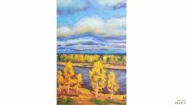 Картина осенний пейзаж осень
