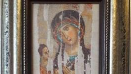 Икона «Богоматерь Одигитрия», ручная работа