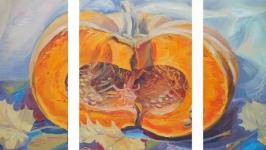Original art oil painting on canvas ′ Pumpkin′ Modern wall art Wall art.