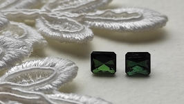 Green Tourmaline (couple) - jewelry insert