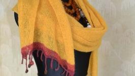 Мохеровий шарф ручної роботи
