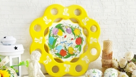 Подставка для кулича и яиц ′Гусики′