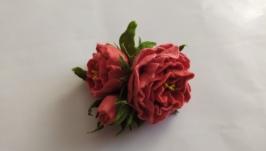 Валяная брошь ′Роза′