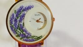 Наручные часы с микровышивкой