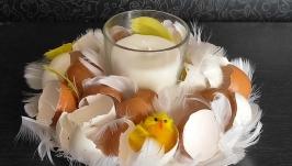 Easter candlestick handmade - an original gift
