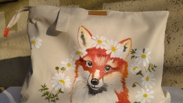 Very cute summer designer hand painted handbag