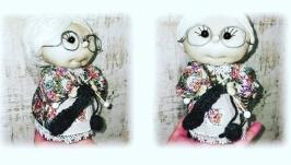 Коллекционная кукла бабушка.