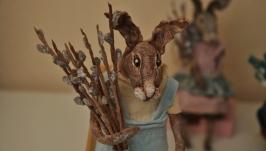 Ватная игрушка пасхальный кролик пасхальный зайчик пасхальный декор