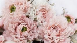 Пионовый сад. Цветы из ткани