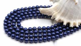 Жемчуг Майорка 6 мм нить ′Индиго′ синий
