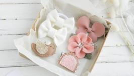 Резинки и заколки для девочки в подарок  Набор детских заколок и резинок