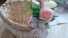 Плетенная корзинка для девочки