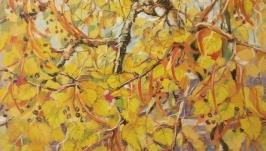 Современное ботаническое искусство Ботаническая живопись ′Осеннее дерево′