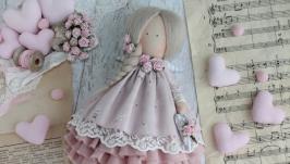 Текстильная кукла в стиле Тильда бохо