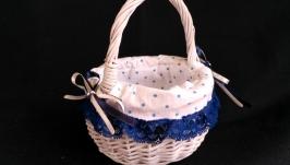 The Easter basket, decorated basket, a picnic basket, a baby basket