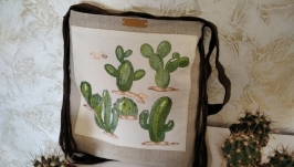 Exclusive hand-painted bag in a deliberately casual style Wild West