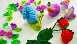 Грибы, ягоды, цветы, насекомые