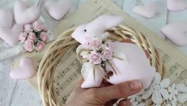 Текстильный интерьерный кролик