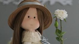 Маша интерьерная текстильная кукла