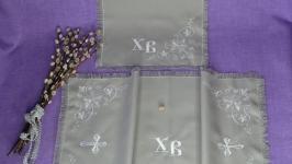 Пасхальный набор рушник и салфетка.56 х33 см , 25 х25 см