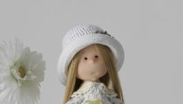 Интерьерная текстильная кукла Ромашка
