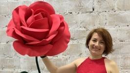 Гигантская красная роза из фоамирана!
