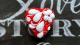 Брошь Ажурное сердце