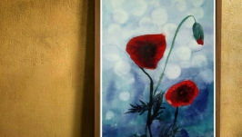 painting watercolor poppies