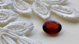 Garnet (hessonite) - jewelry insert