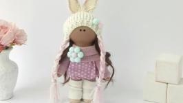 Кукла текстильная. Кукла в шапочке. Красивые куклы. Ляльки.