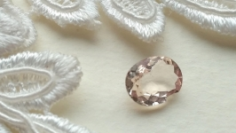 Morganite is a jewelry insert