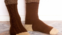 Носки вязаные