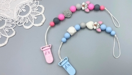 Silicone pacifier clip holder, ′Mini Mouse′