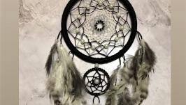 Черно-белый ловец снов, ловец снов, декор, подарок