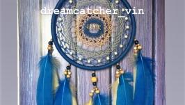 Синий ловец снов, ловец снов, декор, подарок, ловец снов на удачу