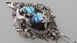 Talisman Silver Salamander, labrador, handmade