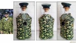 Сувенирная бутылка Защитнику Украины Подарок мужчине пограничнику