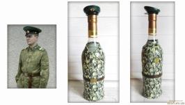 Бутылка под форму погранвойск СССР по фото заказчика Подарок пограничнику