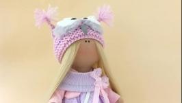 Кукла интерьерная текстильная ручной работы. Красивая кукла.