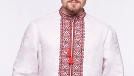 Сорочка чоловіча Богун (льон білий)