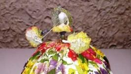 Авторская интерьерная кукла ′На прогулке 2′