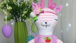 Пльшевая игрушка Олень, розовый