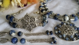 Sodalite necklace ′Summer Day′