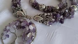 Amethyst set ′Lilac tenderness′