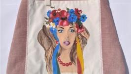 Designer bag in ethnic style Ukrainka