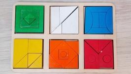 Дитячий пазл, склади квадрат, пазл Никитиних, развивающі ігри