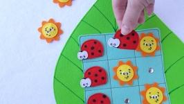 Развивающая игра крестики-нолики из фетра для детей, на магнитах.