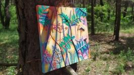 Ботанический Цветочный барельеф панно Дикий горох